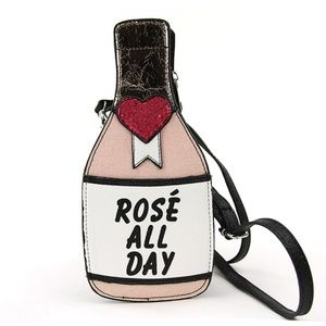 Handbags - Rosé All Day Brunch Babe Novelty Crossbody Purse